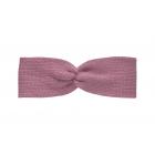 Вязаная повязка пыльно-розовая
