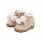 Ботинки ZOEY POMPON розовые
