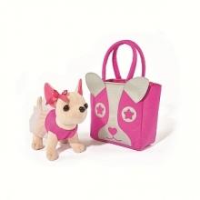 Мягкая игрушка CHI CHI LOVE Собачка с розовой сумкой.