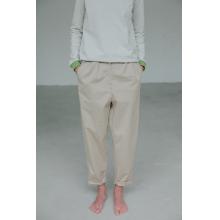Бежевые брюки свободного кроя (удлиненные)