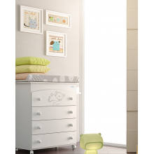 Комод пеленальный Micuna Sweet Bear B-970 White