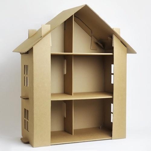 Как сделать из одной коробки дом для куклы