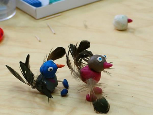 Поделки из пластилина по теме птицы