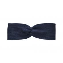 Вязаная повязка темно-синяя