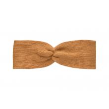 Вязаная повязка желто-горчичная