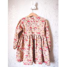 Платье с длинным рукавом «Грибочки»