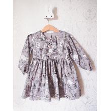 Платье с длинным рукавом «Зверята»