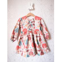Платье с длинным рукавом «Кремовый лес»