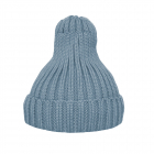 Шапка утеплённая серо-голубая