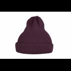 Хлопковая шапка фиолетово-бордовая
