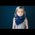 Шейный платок темно-синий