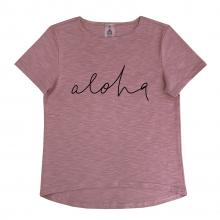 "Футболка ""Aloha"" приглушенно-розовая"