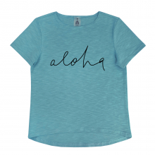 "Футболка ""Aloha"" бирюзовая"