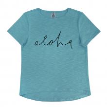"""Футболка для мамы  """"Aloha"""" бирюзовая"""