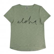 "Футболка для мамы  ""Aloha"" хаки"