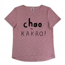 """Футболка для мамы  """"Chao-какао"""" приглушенно-розовая"""