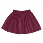 Детская вискозная юбка бордовая