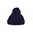 Хлопковая шапка темно-синяя