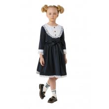 "Платье ""Манишка"" темно-синее"