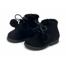 Ботинки ZOEY POMPON черные