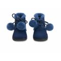 Ботинки ZOEY POMPON синие