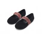 Туфли ANNA черные с розовым ремешком
