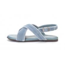 Бархатные сандалии Elisa голубые