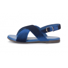 Бархатные сандалии Elisa темно-синие