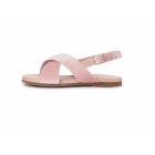 Бархатные сандалии Elisa розовые