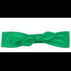 Повязка-бантик зеленая