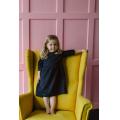 Платье детское черно-синее