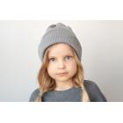Хлопковая шапка серая sharkskin
