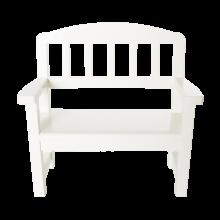Деревянная скамейка, белая