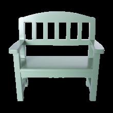 Деревянная скамейка, зеленая