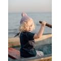 Хлопковая шапка пыльно-розовая New