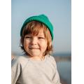 Хлопковая шапка ярко-зелёная New