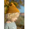 Хлопковая шапка жёлто-горчичная New