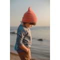 Хлопковая шапка коралловая New