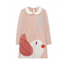 Платье - туника с аппликацией «Птичка с веточкой»