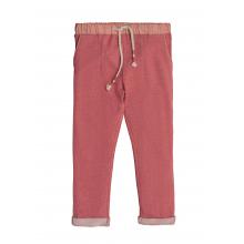 Трикотажные брюки в ягодном цвете