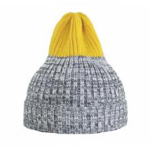 Двухцветная шапка Tamanegi меланж/жёлтая