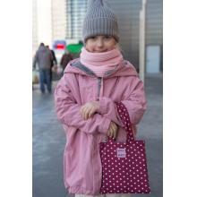 Детская сумка, бордо в горошек