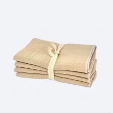 Сет из 4х муслиновых салфеток Mjölk Gold Sand
