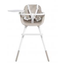 Стульчик для кормления Micuna OVO Luxe Ice White/Taupe Белые кожаные ремни
