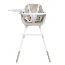 Стульчик для кормления Micuna OVO Plus Ice White/Taupe полипропиленовые ремни white