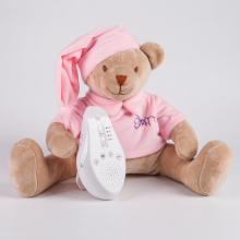 Игрушка для сна Мишка Drema BabyDou с белым и розовым шумом