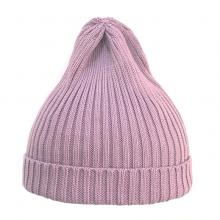 Шапка пыльно-розовая светлая