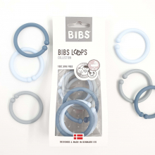 Набор BIBS Loops: Cloud / Baby Blue / Petrol (6шт)