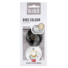 BIBS Colour (2 шт): Black/White, 0-6 мес