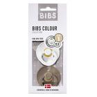 Набор BIBS Colour: White/Dark Oak, 0-6 мес